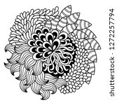 outline floral pattern for... | Shutterstock .eps vector #1272257794