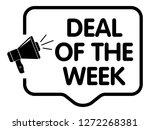 deal of the week announcement | Shutterstock .eps vector #1272268381