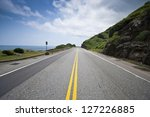 coastal road and sea in summer  ... | Shutterstock . vector #127226885