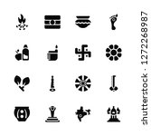 vector illustration of 16 icons.... | Shutterstock .eps vector #1272268987