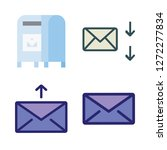 correspondence icon set. vector ... | Shutterstock .eps vector #1272277834