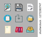 file icon set. vector set about ... | Shutterstock .eps vector #1272283747