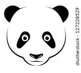 vector image of an panda on... | Shutterstock .eps vector #127228529