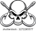 human skull with crossing... | Shutterstock .eps vector #1272285577