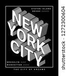 isometric new york theme... | Shutterstock .eps vector #1272300604