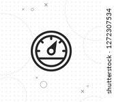 speedometer icon  vector best...   Shutterstock .eps vector #1272307534