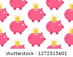 piggy bank icon in flat style...   Shutterstock .eps vector #1272315601