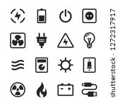 electric vector icon set | Shutterstock .eps vector #1272317917