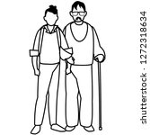 old man and man design | Shutterstock .eps vector #1272318634