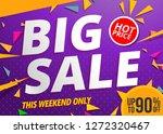 big sale banner template design ... | Shutterstock .eps vector #1272320467