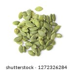 pumpkin seeds isolated on white ... | Shutterstock . vector #1272326284