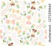 print cute fox sweet color... | Shutterstock .eps vector #1272330664