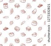 snacks set. background for... | Shutterstock .eps vector #1272332821
