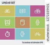 lifestyle icon set and biking...