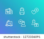 healthcare icon set and... | Shutterstock .eps vector #1272336091