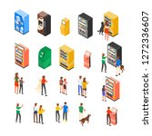 collection of vending machines  ... | Shutterstock .eps vector #1272336607