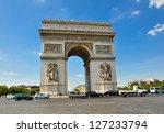 paris august 15  the arc de...   Shutterstock . vector #127233794