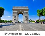 paris august 15  the arc de... | Shutterstock . vector #127233827