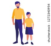 father and son design   Shutterstock .eps vector #1272340954