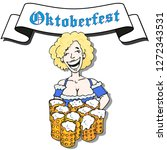 poster for oktoberfestfest.... | Shutterstock .eps vector #1272343531