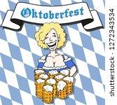 poster for oktoberfestfest.... | Shutterstock .eps vector #1272343534