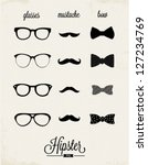 hipster design set | Shutterstock .eps vector #127234769