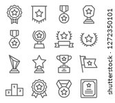 badge vector line icon set.... | Shutterstock .eps vector #1272350101