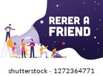 big megaphone with refer a... | Shutterstock .eps vector #1272364771