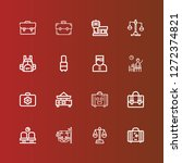 editable 16 baggage icons for... | Shutterstock .eps vector #1272374821