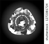 kettlebell icon on grey... | Shutterstock .eps vector #1272381724
