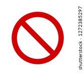 vector not allowed sign on... | Shutterstock .eps vector #1272385297