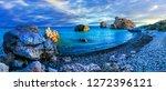 best beaches of cyprus   petra... | Shutterstock . vector #1272396121