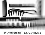 stylish professional barber... | Shutterstock . vector #1272398281