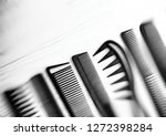 stylish professional barber... | Shutterstock . vector #1272398284