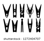Clothespins Silhouette....