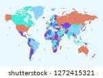 world map vector   Shutterstock .eps vector #1272415321