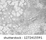 texture of grey concrete wall | Shutterstock . vector #1272415591