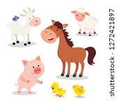 Stock vector farm animal vector set 1272421897