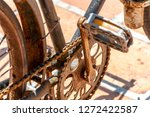 old fashioned  retro tricycle.... | Shutterstock . vector #1272422587
