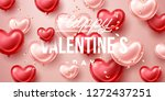 valentines day background with... | Shutterstock .eps vector #1272437251