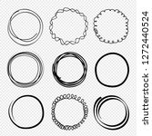 hand drawn circles. sketched... | Shutterstock .eps vector #1272440524