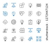 solution icons set. collection... | Shutterstock .eps vector #1272447124