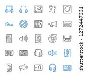 stereo icons set. collection of ... | Shutterstock .eps vector #1272447331