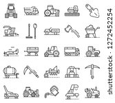 yard equipment icon set.... | Shutterstock .eps vector #1272452254
