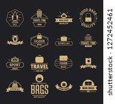 travel baggage logo icons set.... | Shutterstock .eps vector #1272452461