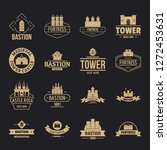 towers castles logo icons set.... | Shutterstock .eps vector #1272453631