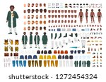 fat african american man... | Shutterstock .eps vector #1272454324