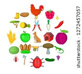 ranch icons set. cartoon set of ...   Shutterstock .eps vector #1272457057