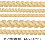 nautical rope. round and square ... | Shutterstock .eps vector #1272457447