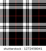 black white and red tartan...   Shutterstock .eps vector #1272458041